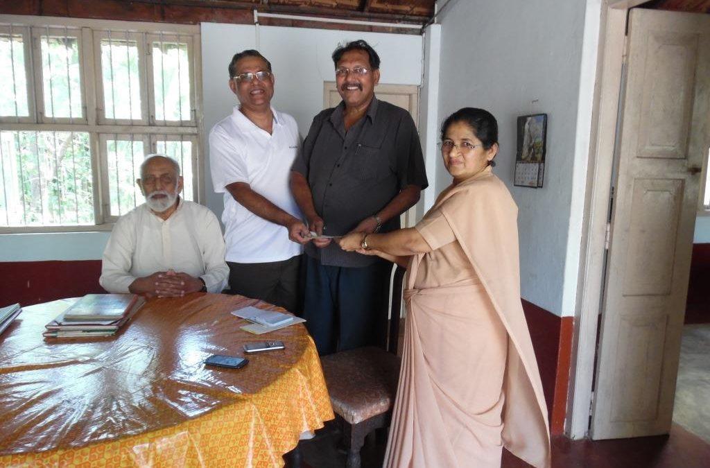 KCWA disburse INR 10 Lakhs to Nirmala Ashram, Mount Rosary Alangar